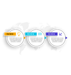 Three steps infographic elements timeline vector