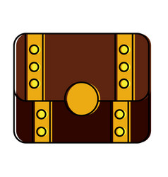 treasure chest closed icon imag vector image vector image