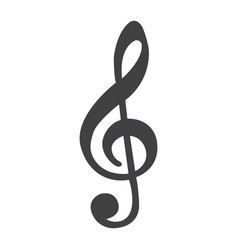 Treble clef line icon music and instrument vector