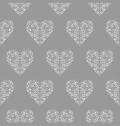 Tribal heart shape ornament seamless vector