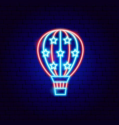 usa air balloon neon sign vector image