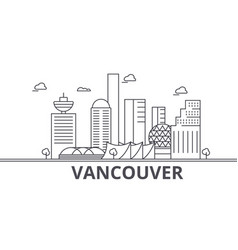 Vancouver architecture line skyline vector