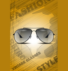 vintage classic sun glasses vector image
