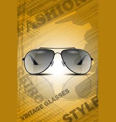 vintage classic sun glasses vector image