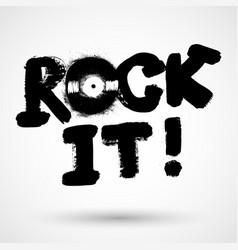 vintage rock label rock it template for your vector image