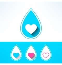 water drop made in modern flat design vector image