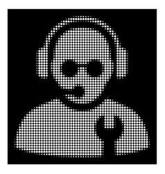 white halftone service operator icon vector image