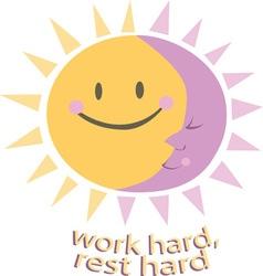 Work Hard vector