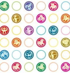 zodiac signs retro pattern vector image