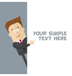 A businessman or manager of a close-up shows at vector image vector image