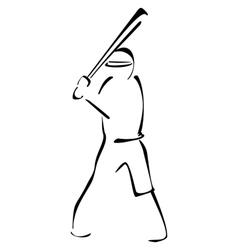 Baseball striker vector image