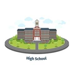 High school or university building educational vector