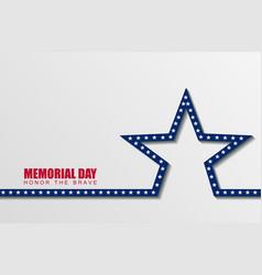 memorial day1 vector image vector image