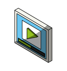 movie clapboard 3d vector image