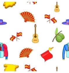 Spain pattern cartoon style vector image vector image