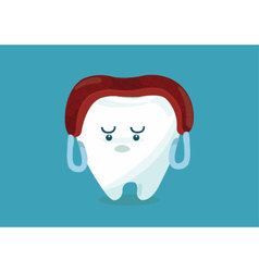 Tooth say meat over head vector image vector image