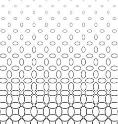 Abstract black and white ellipse pattern design vector