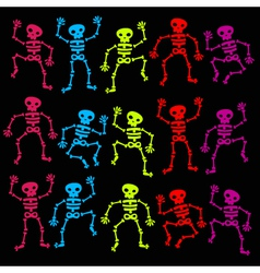 Dancing Skeleton vector image