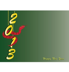 new-year-card vector image