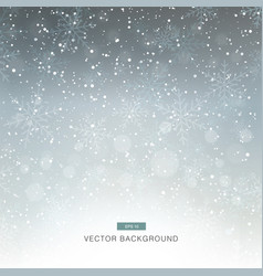 falling snow on the grey background vector image