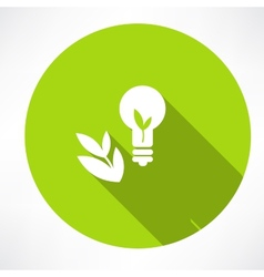 Green Bulb with leaf vector image
