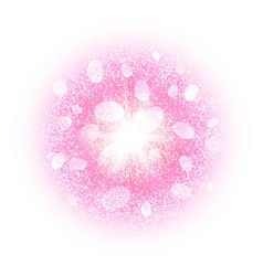 Abstract explosion with pink dust elements vector image