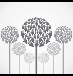abstract tree design with hand vector image