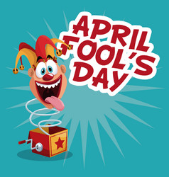 april fools day celebration vector image