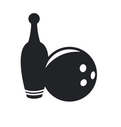 bowling ball and pin game equipment pictogram vector image vector image