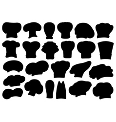 Set of different chef hats vector image vector image