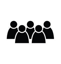 5 people icon group persons simplified human vector