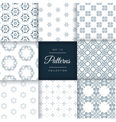 abstract pattern set of 8 different styles vector image