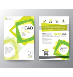 Abstract square shape background Poster Flyer vector