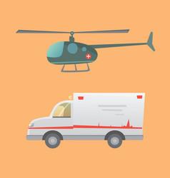 ambulance car flat design vector image