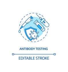 Antibody testing concept icon vector
