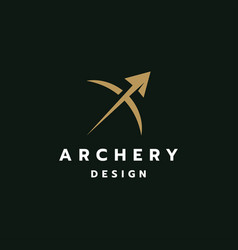 archer logo design vector image