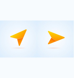 arrow gps navigation icon vector image