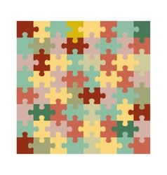 Assembled jigsaw puzzle vector