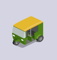 Auto rickshaw transport isometric vector