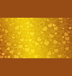 background of hearts with swirls vector image