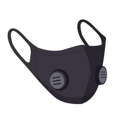 black air pollution face mask man or woman vector image