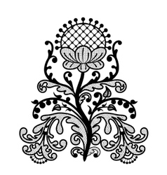 Black lace flower vector