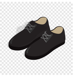 black male shoes con isometric 3d style vector image