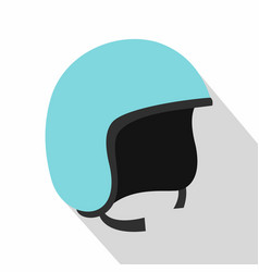 Blue safety helmet icon flat style vector