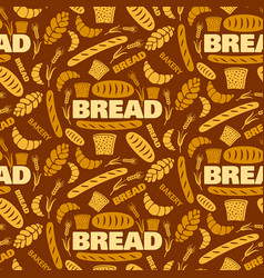 bread seamless pattern vector image