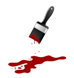 brush with blood vector image