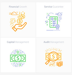 Business and finance icon set financial growth vector