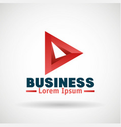 Business emblem isolated icon vector
