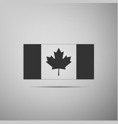 canada flag icon isolated on grey background vector image