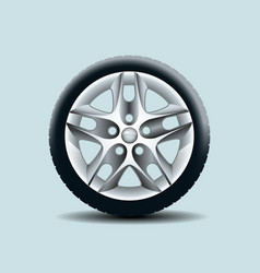 Car wheel isolated on clear background vector
